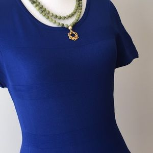 J. McLaughlin Dresses - NWT Royal Blue stretch textured J McLaughlin
